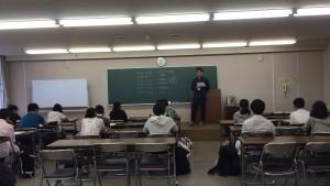 学生リーダーの齊藤くんがタダゼミの説明をしてくれました。